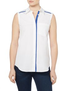 Sportmax Code MIRTO sleeveless front pocket shirt