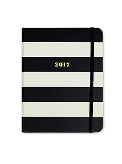 Black Stripe 17-Month Medium Agenda