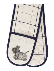 Linea Scruffy dog double oven glove