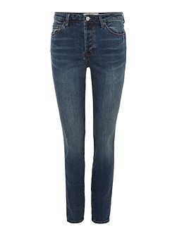 Payton high rise skinny jeans in blue denim
