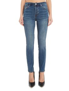 Free People Payton high rise skinny jeans in blue denim