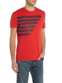 Armani Jeans Regular fit large logo wing t-shirt