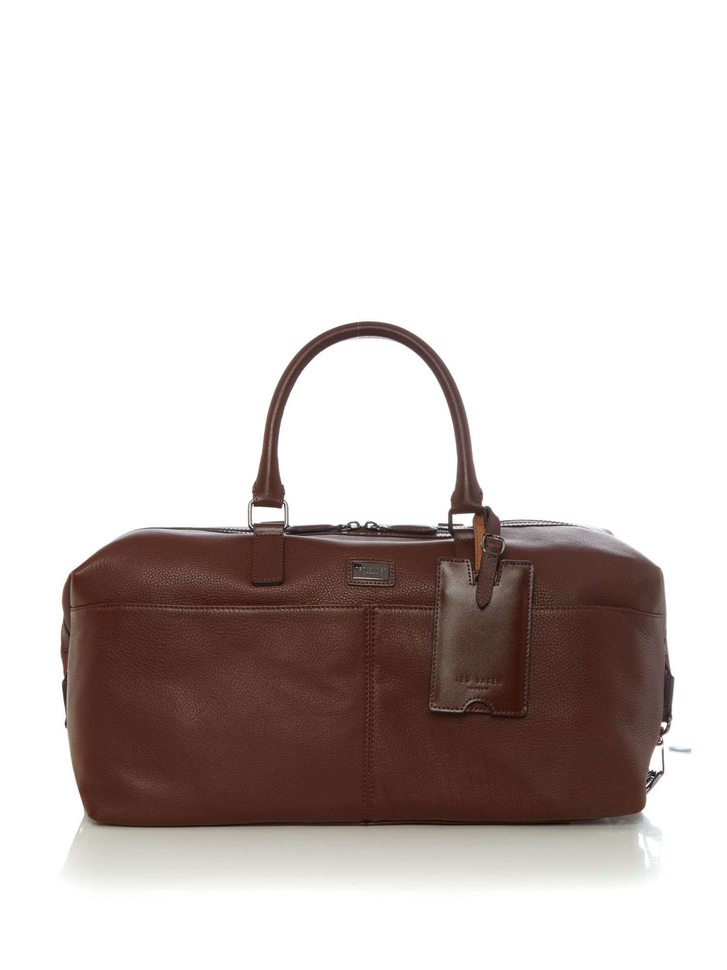 Ted Baker Tiger Leather Holdall Tan