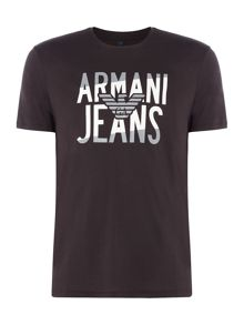 Armani Jeans Regular fit grandient logo t-shirt