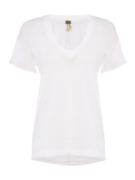 Free People Pearl`s Tee in white