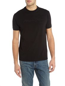 Armani Jeans Regular embroidered script logo t-shirt