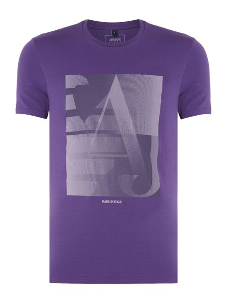 Armani Jeans Regular fit AJ square graphic t-shirt