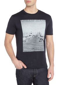 Armani Jeans Regular fit graphic photo t-shirt