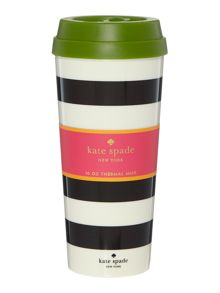 Kate Spade New York Black Mono Spot Thermal mug