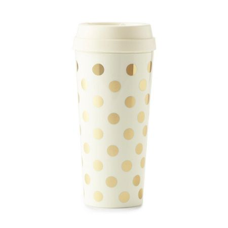 Kate Spade New York Gold polka dots thermal mug
