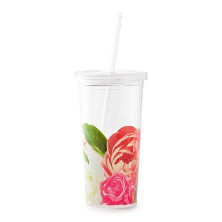 Kate Spade New York Floral Tumbler with Straw