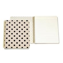 Kate Spade New York Mono Polka dot large Spiral Notebook