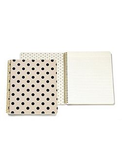 Mono Polka dot large Spiral Notebook
