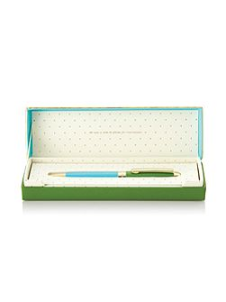 Green and Turquoise Boxed Ballpoint Pen