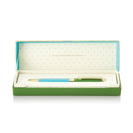 Kate Spade New York Green and Turquoise Boxed Ballpoint Pen