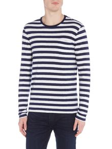 Polo Ralph Lauren Long sleeve crew neck stripe pocket t-shirt