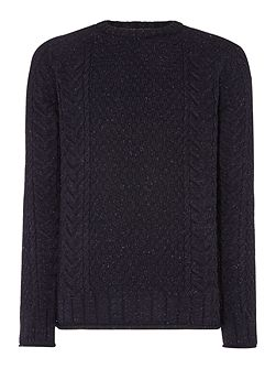 Cable-Knit Crew-Neck Jumper