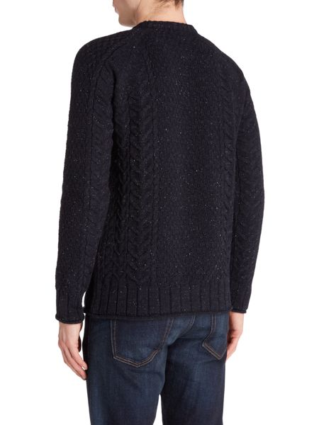 Jack & Jones Cable-Knit Crew-Neck Jumper