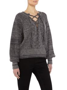 Free People Hoops and holla sweater