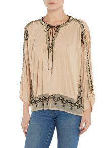 Free People Eden woven top in pearl