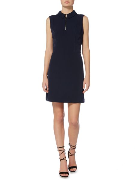 Therapy Brynn zip frnt crepe dress