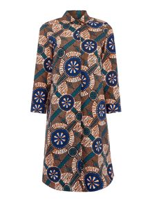 Max Mara CAMPOS printed longsleeve shirt dress
