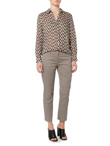 Max Mara EXTRA micro abstract print slim fit trouser