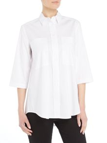 Armani Jeans 2 pocket shirt in 1100 white