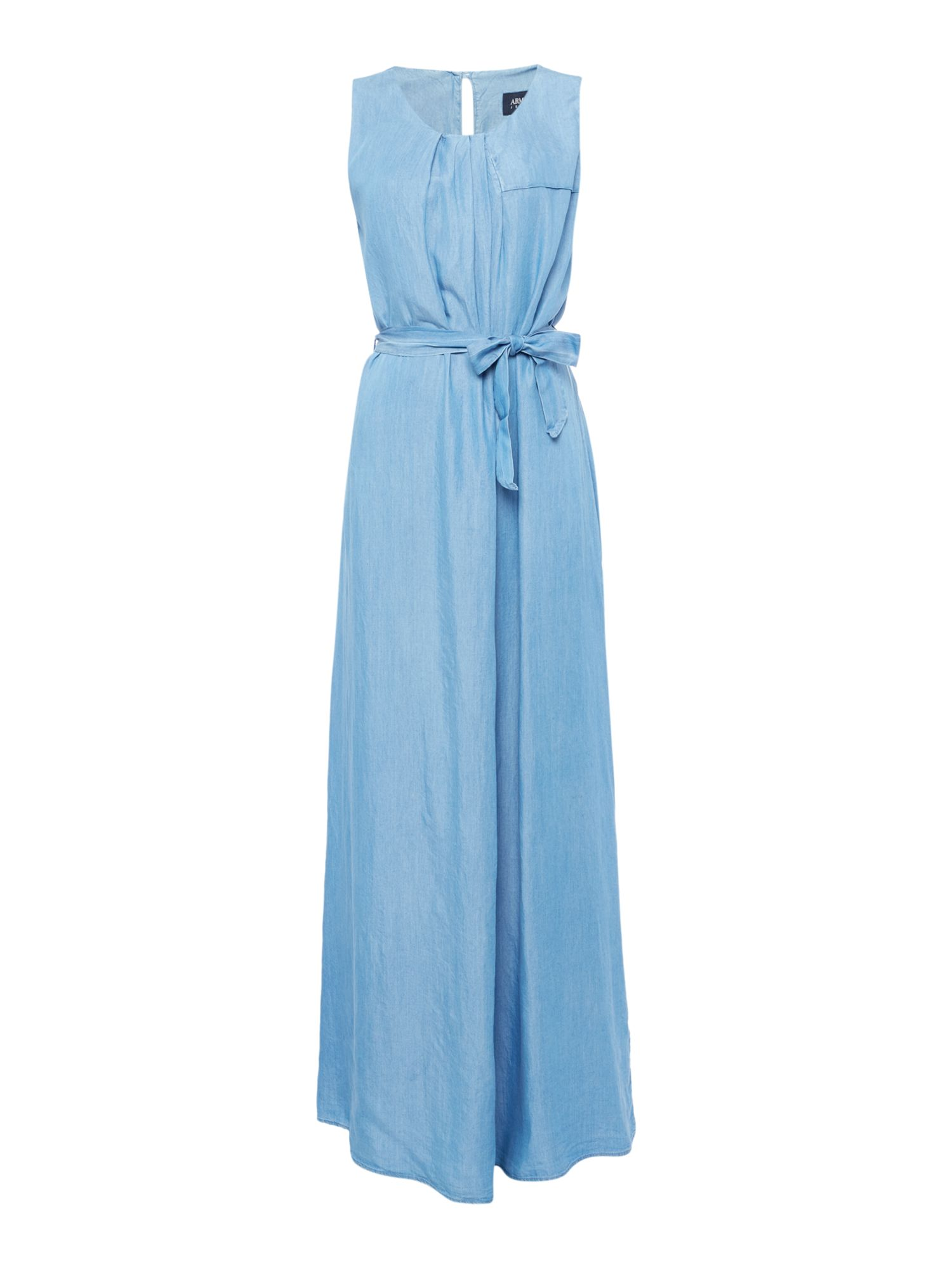 Armani Jeans Maxi dress in denim Chambray