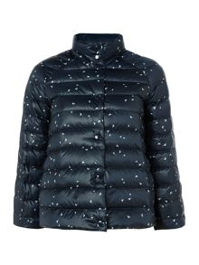Armani Jeans Reversible puffa jacket in blue spot
