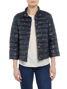 Armani Jeans Reversible puffer jacket in blue spot