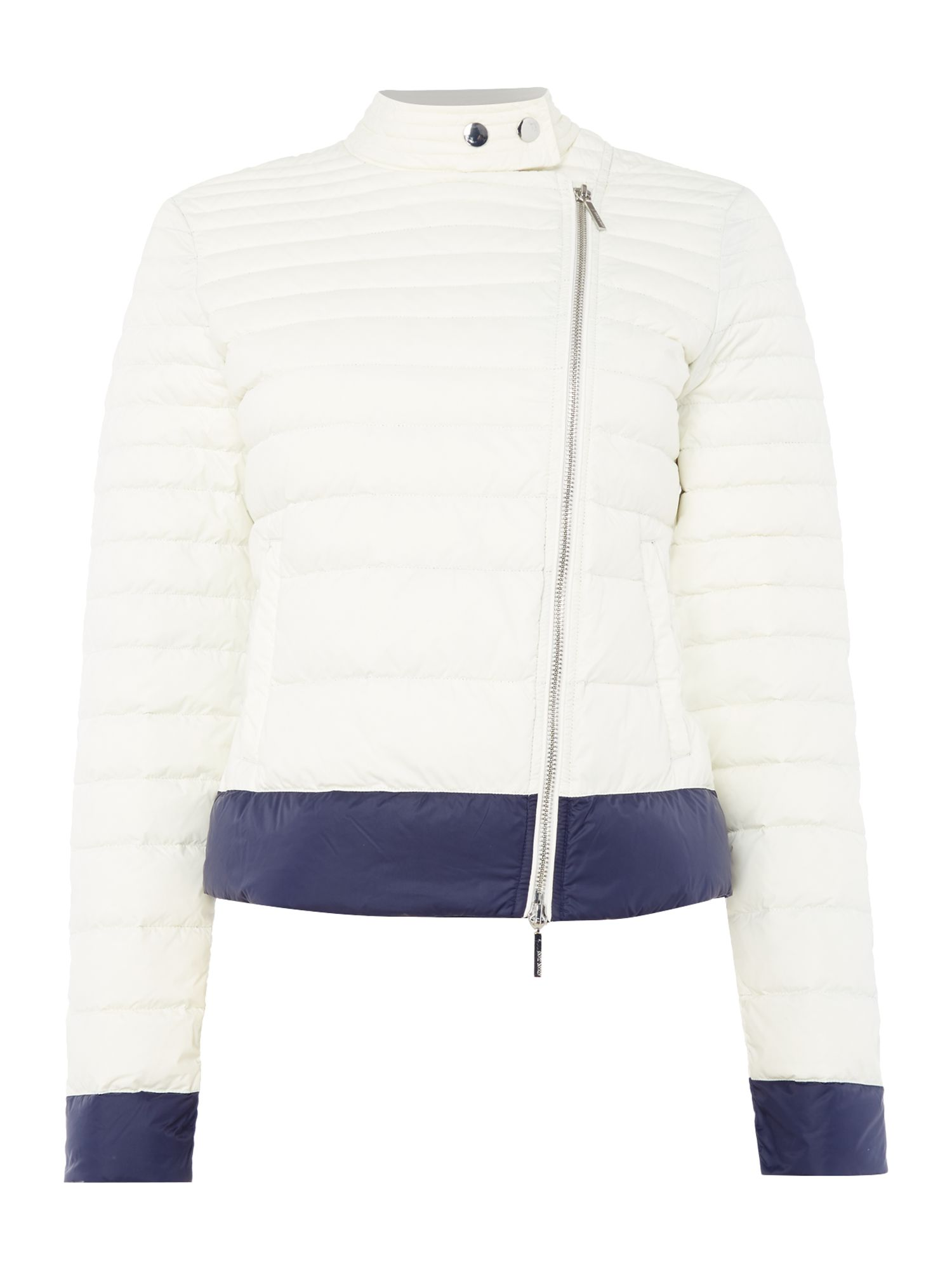 Armani Jeans Cropped puffer jacket in bianco latte, Grey