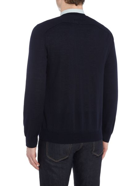 Gant Diamond G Extra-Fine V-Neck Merino Jumper