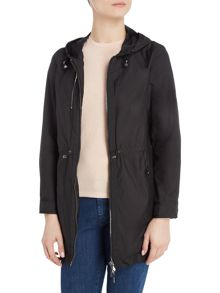 Armani Jeans Lightweight parka coat in black