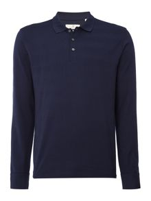 Gant Diamond G Tonal-Stripe Long-Sleeve Polo Shirt