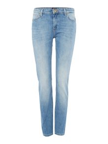 Lee Elly slim straight jean in light shade