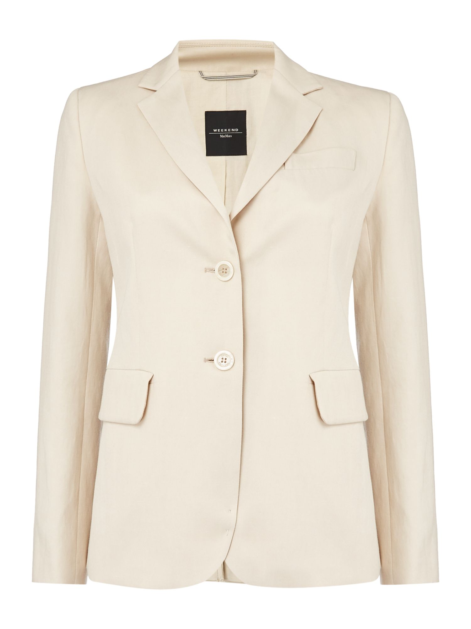 Max Mara Weekend CIMONE longsleeve cotton linen mix jacket, Sand