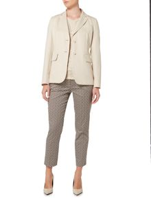 Max Mara CIMONE longsleeve cotton linen mix jacket