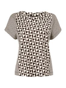 Max Mara NECTAR abstract printed short sleeve jersey top