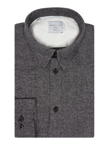 Selected Homme Houndstooth Print Long-Sleeve Shirt