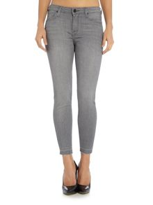 Lee Scarlett raw edge skinny jean in authentic grey