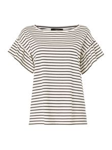 Max Mara ERA Flutter sleeve striped top