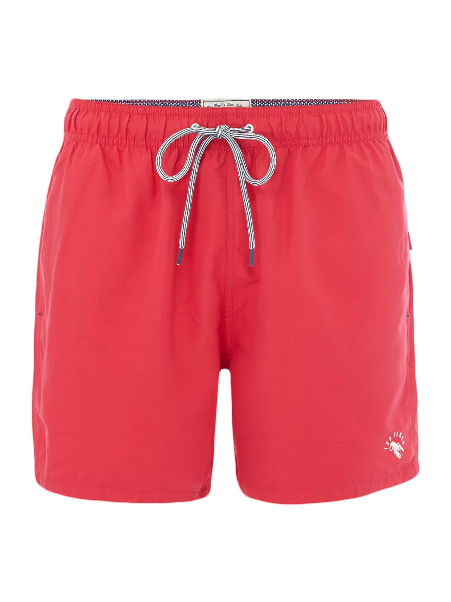 Men's Ted Baker Solid Colour Swim Short, Pink
