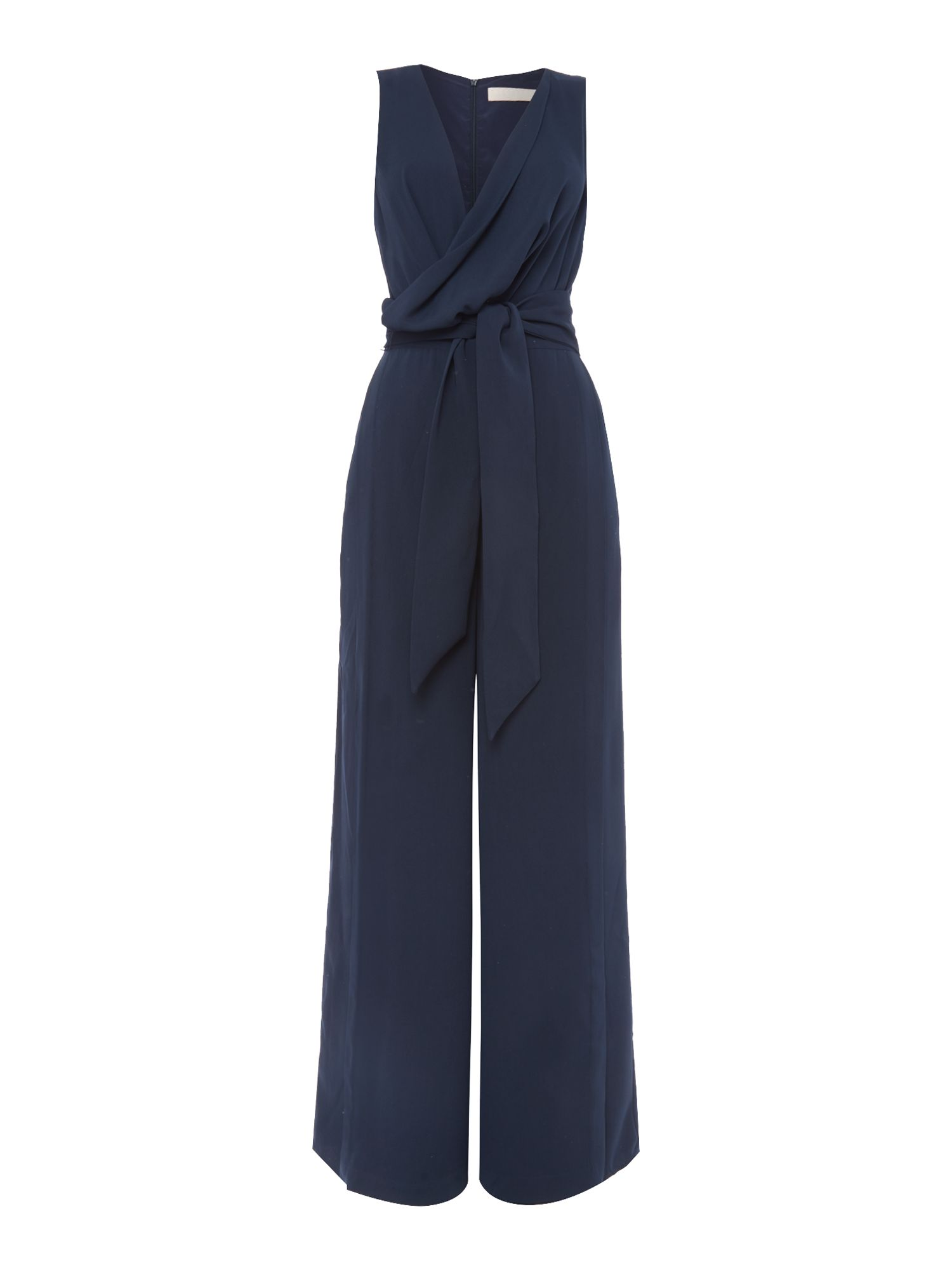 Keepsake Sleeveless V Neck Jumpsuit, Blue