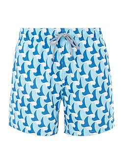 Wave Print Swim Short