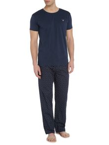 Gant Star Pant and Logo Crew Tee Gift Set