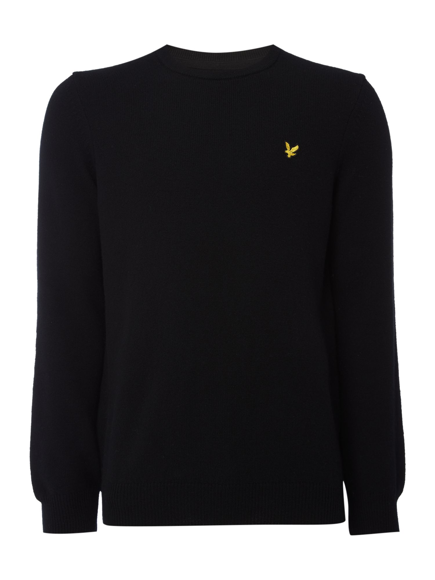 Lyle and Scott Men's Lyle and Scott Lambswool Crew Neck Jumper, Black