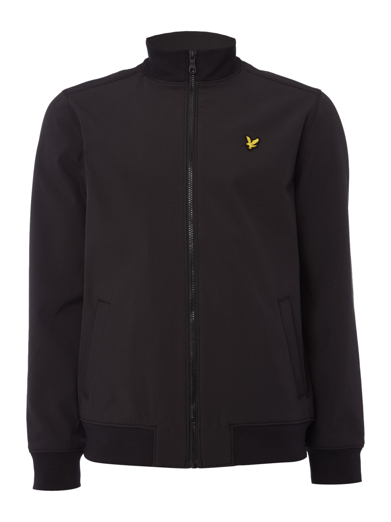 Lyle and Scott Men's Lyle and Scott Zip through soft shell jacket, Black