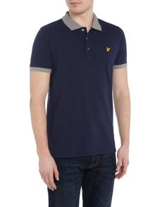 Lyle and Scott Contrast rib short sleeve polo