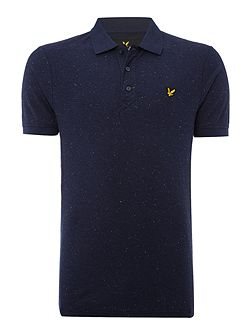 Flecked short sleeve polo shirt